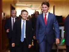 """""""最帅总理""""特鲁多访华 对话中国企业家"""