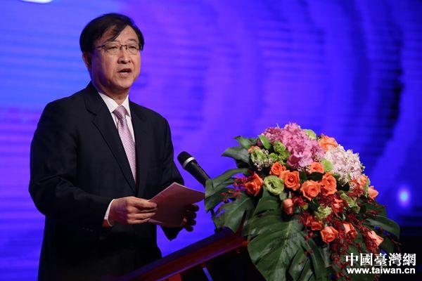 北京市台联党组书记王兰栋致辞。(中国台湾网 袁楚 摄)