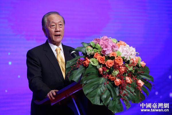 新党主席郁慕明致辞。(中国台湾网 袁楚 摄)