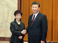 习近平总书记会见中国国民党主席洪秀柱,就两岸关系发展提出六点意见