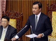 """12月5日,台湾""""立法院""""审查""""促进转型正义条例"""",""""立法院长""""苏嘉全(右)敲槌宣布通过。(图片来源:台湾《中时电子报》)_副本.jpg"""