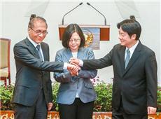 """台行政管理机构负责人""""林下赖上""""。(图片来源:台湾《联合晚报》)_副本.jpg"""