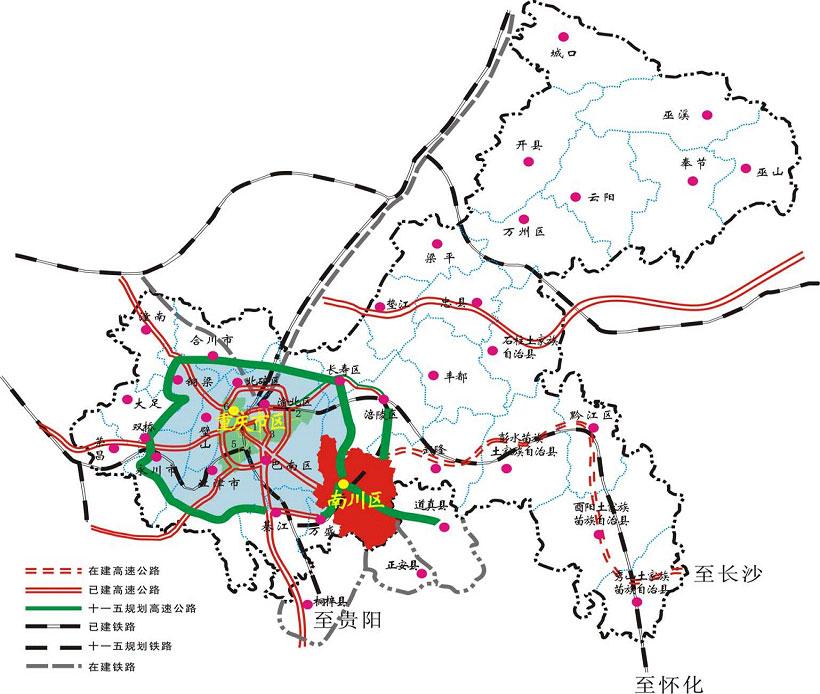 潼南到荣昌地图