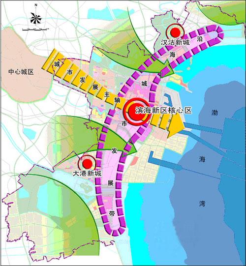 """三城区""""的城市空间结构"""